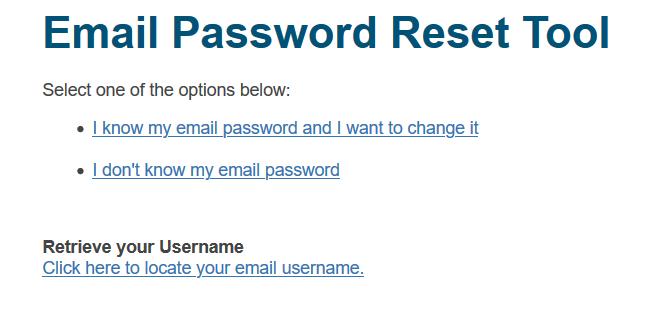 reset twc mail password